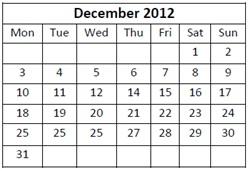 Dec2012 Calendar