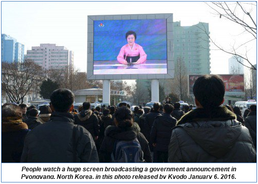 January 12, 2016—On North Korea's H-Bomb—and Iran's?